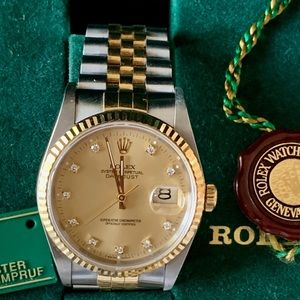 Rolex datejust 36mm 18 K yellow gold Box and paper